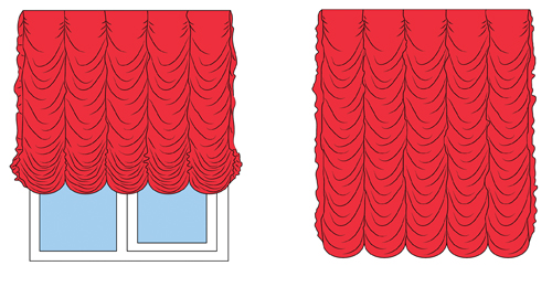 Illustration of Festoon Shades Curtains