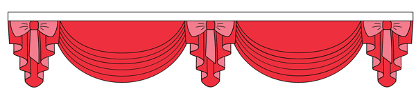 Illustration of Pelmet Window Treatment Curtains